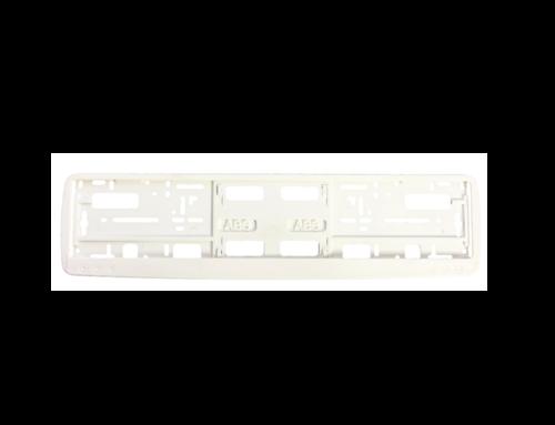 Okvir registarske tablice (kružići) – bela