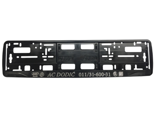 Licence Plate Frame – MODEL I – Hrome printing – Black – 172GP