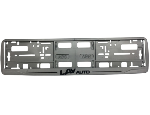 Licence Plate Frame – MODEL I – Screen Printing – Gray – 173GP