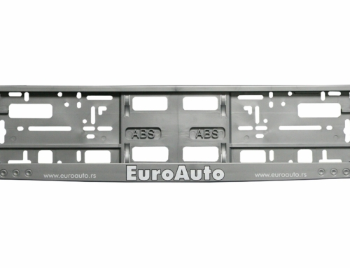 Licence Plate Frame – MODEL II – Screen Printing – Gray – 175GP