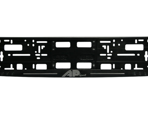 Licence Plate Frame – MODEl II – Hrome printing – Black – 174GP