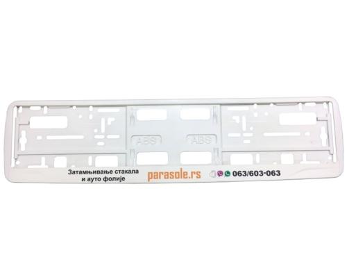 Licence Plate Frame – MODEL I – Screen Printing – White – 176GP